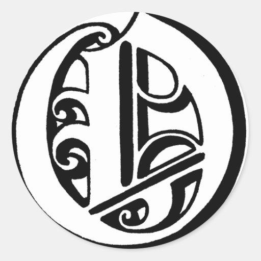 Letter o monogram round stickers zazzle for Letter o monogram