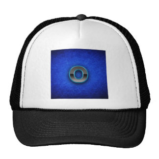 Letter O - neon blue edition Mesh Hat