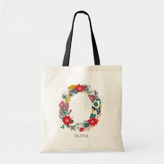 Letter O | Whimsical Floral Letter Monogram Bag I