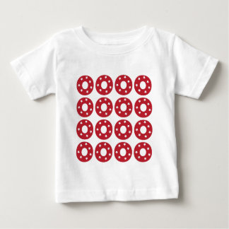 Letter O - White Stars on Dark Red Baby T-Shirt