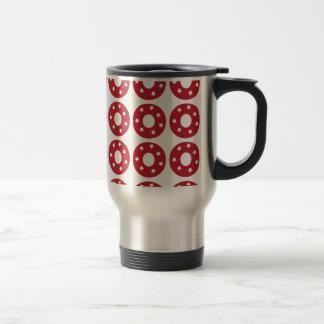 Letter O - White Stars on Dark Red Travel Mug