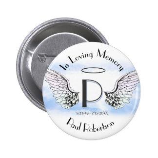 Letter P | Add Name | Memorial 6 Cm Round Badge