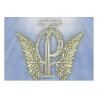 Letter P Angel Monogram Pack Of Chubby Business Cards