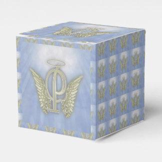 Letter P Angel Monogram Wedding Favour Boxes
