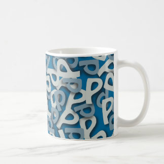 Letter P Blue Mug