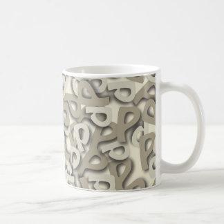 Letter P Gray Coffee Mug