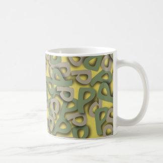 Letter P Green Mugs