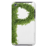 Letter 'P' in cress on white background, Barely There iPod Covers