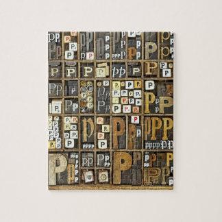 Letter P Jigsaw Puzzle