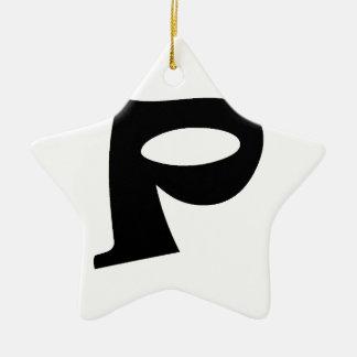 Letter P_large Christmas Ornament
