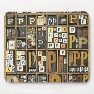 Letter P Mouse Mat