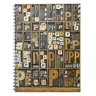 Letter P Notebooks