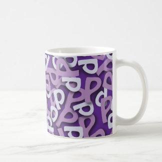 Letter P Purple Mugs
