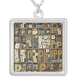 Letter P Silver Plated Necklace