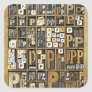 Letter P Square Sticker