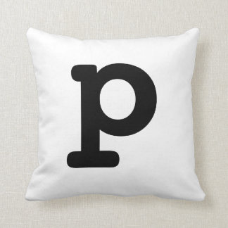 Letter P Throw Cushions