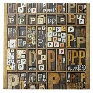 Letter P Tile