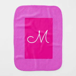 Letter Pink Striped Burp Cloth