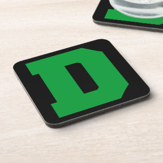 Letter Pride D Green png Beverage Coasters