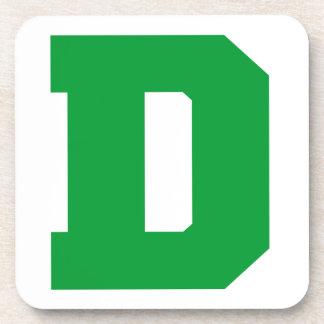 Letter Pride D Green png Coasters