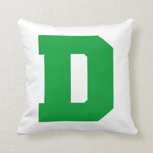 Letter Pride D Green.png Pillow