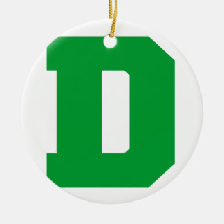 Letter Pride D Green.png Christmas Ornament