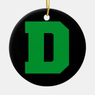 Letter Pride D Green.png Christmas Tree Ornaments