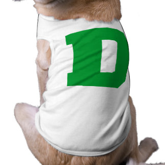 Letter Pride D Green png Dog Tshirt