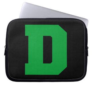 Letter Pride D Green png Laptop Sleeve
