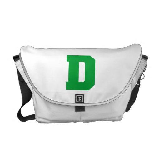 Letter Pride D Green.png Messenger Bag