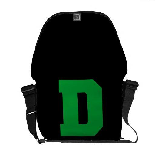 Letter Pride D Green.png Messenger Bags