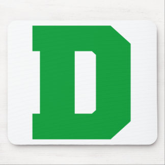 Letter Pride D Green png Mouse Pad