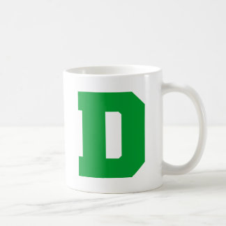 Letter Pride D Green.png Basic White Mug