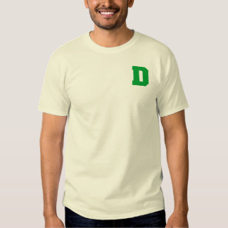 Letter Pride D Green.png Shirts
