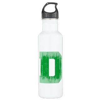 LETTER PRIDE D GREEN VINTAGE.png 710 Ml Water Bottle