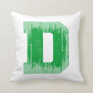 LETTER PRIDE D GREEN VINTAGE.png Throw Pillow