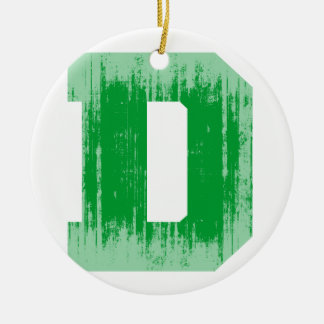 LETTER PRIDE D GREEN VINTAGE.png Christmas Tree Ornaments