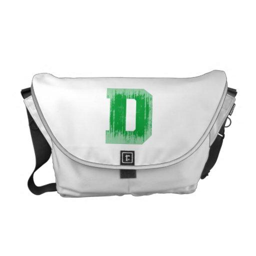 LETTER PRIDE D GREEN VINTAGE.png Commuter Bag