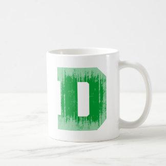LETTER PRIDE D GREEN VINTAGE.png Basic White Mug
