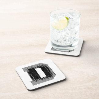 LETTER PRIDE D VINTAGE png Drink Coaster