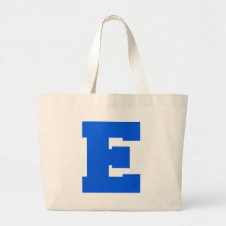 Letter Pride E Blue.png Canvas Bag