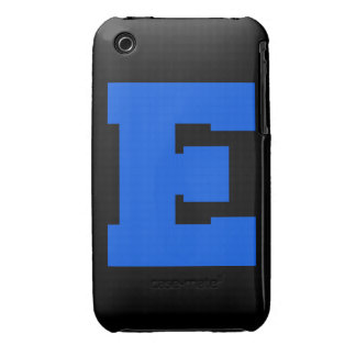 Letter Pride E Blue.png Case-Mate iPhone 3 Cases