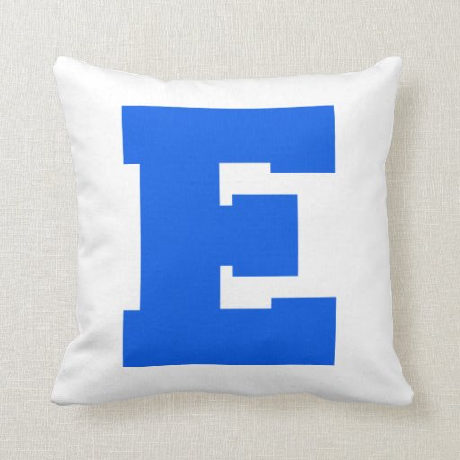 Letter Pride E Blue.png Throw Pillow