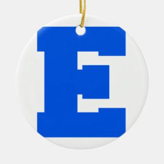 Letter Pride E Blue.png Christmas Ornaments