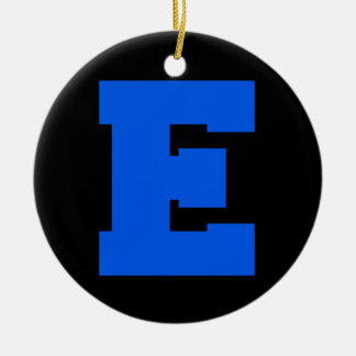 Letter Pride E Blue.png Christmas Tree Ornament