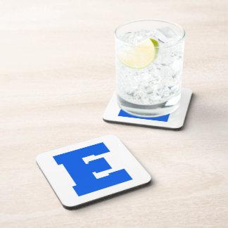 Letter Pride E Blue png Drink Coaster