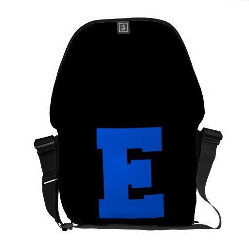Letter Pride E Blue.png Messenger Bags