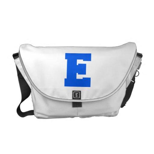 Letter Pride E Blue.png Commuter Bag