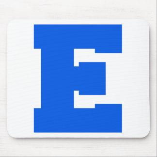 Letter Pride E Blue png Mouse Pad