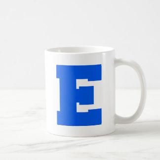 Letter Pride E Blue.png Basic White Mug